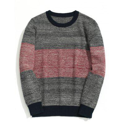 Color Block Heathered Chunky Sweater