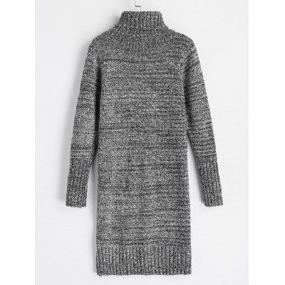 Turtleneck Heathered Long Sleeve Sweater DressSweater Dresses<br>Turtleneck Heathered Long Sleeve Sweater Dress<br><br>Dresses Length: Knee-Length<br>Material: Acrylic, Cotton, Polyester<br>Neckline: Turtleneck<br>Occasion: Casual, Going Out<br>Package Contents: 1 x Dress, 1 x Dress<br>Pattern Type: Others<br>Season: Fall, Spring<br>Sleeve Length: Long Sleeves<br>Weight: 0.8100kg, 0.8100kg<br>With Belt: No