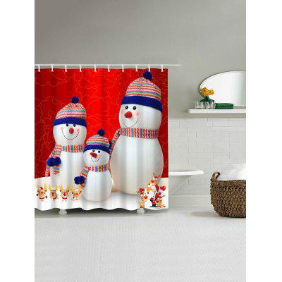 Christmas Snowman Family Waterproof Polyester Bath CurtainShower Curtain<br>Christmas Snowman Family Waterproof Polyester Bath Curtain<br><br>Materials: Polyester<br>Number of Hook Holes: W59 inch*L71 inch: 10; W71 inch*L71 inch: 12; W71 inch*L79 inch: 12<br>Package Contents: 1 x Shower Curtain 1 x Hooks (Set)<br>Pattern: Snowman<br>Products Type: Shower Curtains<br>Style: Festival