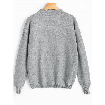 Drop Shoulder Self Tie Bowknot SweaterSweaters &amp; Cardigans<br>Drop Shoulder Self Tie Bowknot Sweater<br><br>Collar: Crew Neck<br>Material: Polyester<br>Package Contents: 1 x Sweater<br>Sleeve Length: Full<br>Style: Casual<br>Type: Pullovers<br>Weight: 0.4700kg