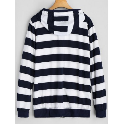 Zip Up Drawstring Stripe HoodieSweatshirts &amp; Hoodies<br>Zip Up Drawstring Stripe Hoodie<br><br>Clothing Style: Hoodie<br>Elasticity: Micro-elastic<br>Material: Polyester, Spandex<br>Neckline: Hooded<br>Package Contents: 1 x Hoodie<br>Pattern Style: Striped<br>Shirt Length: Regular<br>Sleeve Length: Full<br>Weight: 0.4100kg