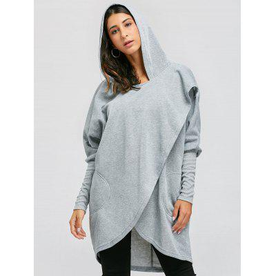 Open Front Convertible Long Drape HoodieSweatshirts &amp; Hoodies<br>Open Front Convertible Long Drape Hoodie<br><br>Material: Polyester, Spandex<br>Package Contents: 1 x Hoodie<br>Pattern Style: Solid<br>Season: Fall, Winter<br>Shirt Length: Long<br>Sleeve Length: Full<br>Style: Fashion<br>Weight: 0.4200kg