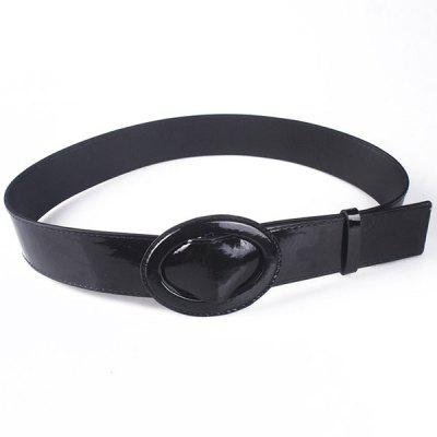 PU Leather Wide Waist Belt