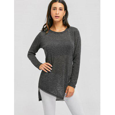 Side Slit High Low Tunic SweaterSweaters &amp; Cardigans<br>Side Slit High Low Tunic Sweater<br><br>Collar: Round Neck<br>Material: Polyester<br>Package Contents: 1 x Sweater<br>Pattern Type: Solid<br>Season: Fall, Spring<br>Sleeve Length: Full<br>Style: Casual<br>Type: Pullovers<br>Weight: 0.3500kg