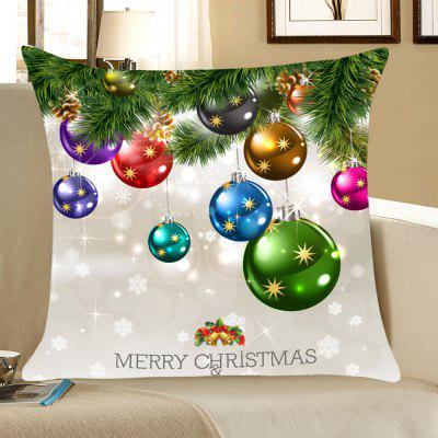 Christmas Colorful Balls Pattern Throw Pillow Case