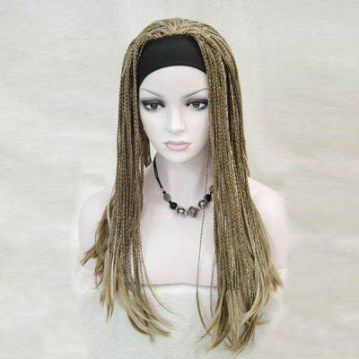 Long Colormix Crochet Handmade Micro Braids Straight Synthetic Wig