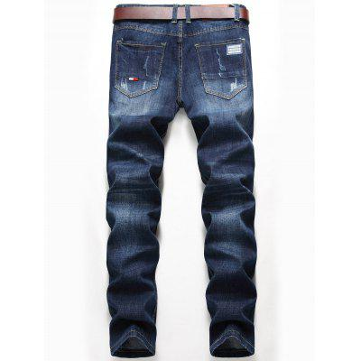 Straight Leg Whisker Design Destroyed JeansMens Pants<br>Straight Leg Whisker Design Destroyed Jeans<br><br>Closure Type: Zipper Fly<br>Fit Type: Regular<br>Material: Cotton, Polyester, Spandex<br>Package Contents: 1 x Jeans<br>Pant Length: Long Pants<br>Pant Style: Straight<br>Waist Type: Mid<br>Wash: Destroy Wash<br>Weight: 0.7200kg<br>With Belt: No