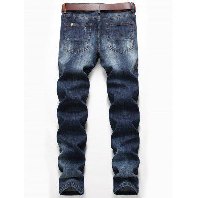 Straight Leg Distressed Faded JeansMens Pants<br>Straight Leg Distressed Faded Jeans<br><br>Closure Type: Zipper Fly<br>Fit Type: Regular<br>Material: Cotton, Spandex<br>Package Contents: 1 x Jeans<br>Pant Length: Long Pants<br>Pant Style: Straight<br>Waist Type: Mid<br>Wash: Medium<br>Weight: 0.6900kg<br>With Belt: No
