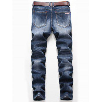 Faded Zip Fly Straight Distressed JeansMens Pants<br>Faded Zip Fly Straight Distressed Jeans<br><br>Closure Type: Zipper Fly<br>Fit Type: Regular<br>Material: Cotton, Spandex<br>Package Contents: 1 x Jeans<br>Pant Length: Long Pants<br>Pant Style: Straight<br>Waist Type: Mid<br>Wash: Destroy Wash<br>Weight: 0.7200kg<br>With Belt: No