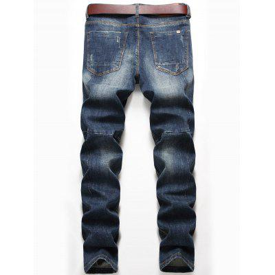 Zip Fly Whisker Jeans with Straight LegMens Pants<br>Zip Fly Whisker Jeans with Straight Leg<br><br>Closure Type: Zipper Fly<br>Fit Type: Regular<br>Material: Cotton, Spandex<br>Package Contents: 1 x Jeans<br>Pant Length: Long Pants<br>Pant Style: Straight<br>Waist Type: Mid<br>Wash: Medium<br>Weight: 0.7200kg<br>With Belt: No