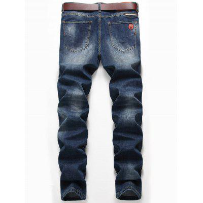 Zipper Fly Straight Leg Classic JeansMens Pants<br>Zipper Fly Straight Leg Classic Jeans<br><br>Closure Type: Zipper Fly<br>Fit Type: Regular<br>Material: Cotton, Spandex<br>Package Contents: 1 x Jeans<br>Pant Length: Long Pants<br>Pant Style: Straight<br>Waist Type: Mid<br>Wash: Medium<br>Weight: 0.6000kg<br>With Belt: No