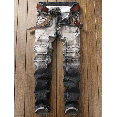 Slim Fit Zip Embellished Distressed Ombre JeansMens Pants<br>Slim Fit Zip Embellished Distressed Ombre Jeans<br><br>Closure Type: Zipper Fly<br>Fit Type: Regular<br>Material: Cotton, Spandex<br>Package Contents: 1 x Jeans<br>Pant Length: Long Pants<br>Waist Type: Mid<br>Wash: Destroy Wash<br>Weight: 0.8500kg<br>With Belt: No