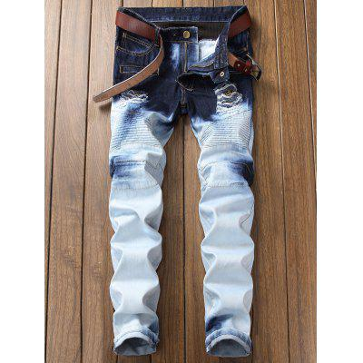 Tie Dyed Distressed Biker JeansMens Pants<br>Tie Dyed Distressed Biker Jeans<br><br>Closure Type: Zipper Fly<br>Fit Type: Regular<br>Material: Cotton, Spandex, Polyester<br>Package Contents: 1 x Jeans<br>Pant Length: Long Pants<br>Waist Type: Mid<br>Wash: Destroy Wash<br>Weight: 0.8300kg<br>With Belt: No