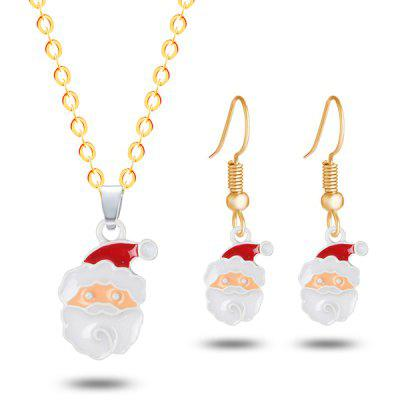 Christmas Santa Necklace and Earrings