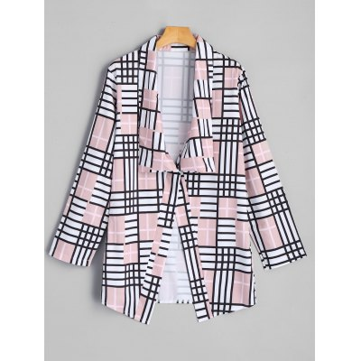 Casual Fashion Nice Female Checked Elbow Patch Blazer Design Style Jacket