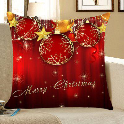 Buy Christmas Baubles and Stars Pattern Decorative Pillow Case, RED, Home & Garden, Home Textile, Bedding, Pillow for $4.42 in GearBest store