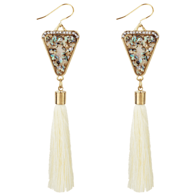 Vintage Triangle Shape Crystal Embellished Long Tassel Drop EarringsEarrings<br>Vintage Triangle Shape Crystal Embellished Long Tassel Drop Earrings<br><br>Earring Type: Drop Earrings<br>Gender: For Girls,For Women<br>Material: Crystal<br>Metal Type: Alloy<br>Package Contents: 1 x Earrings(Pair)<br>Shape/Pattern: Tassel<br>Style: Trendy<br>Weight: 0.0240kg