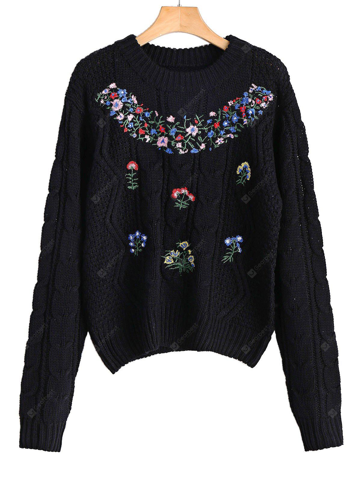 Floral Patched Sweater