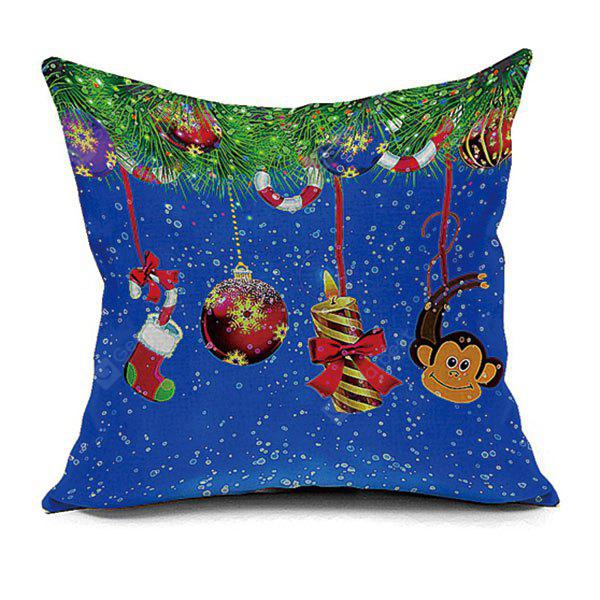 Christmas Elements Pattern Decorative Pillow Case