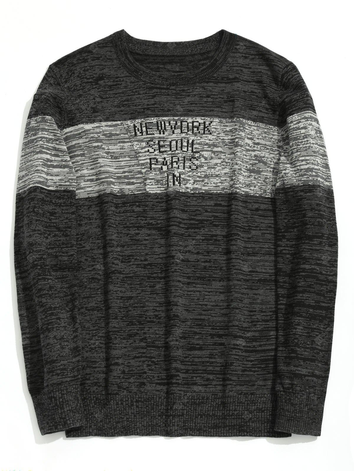 Suéter para hombre Graphic Heathered