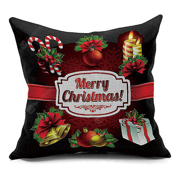 Christmas Elements Decorative Throw Pillowcase