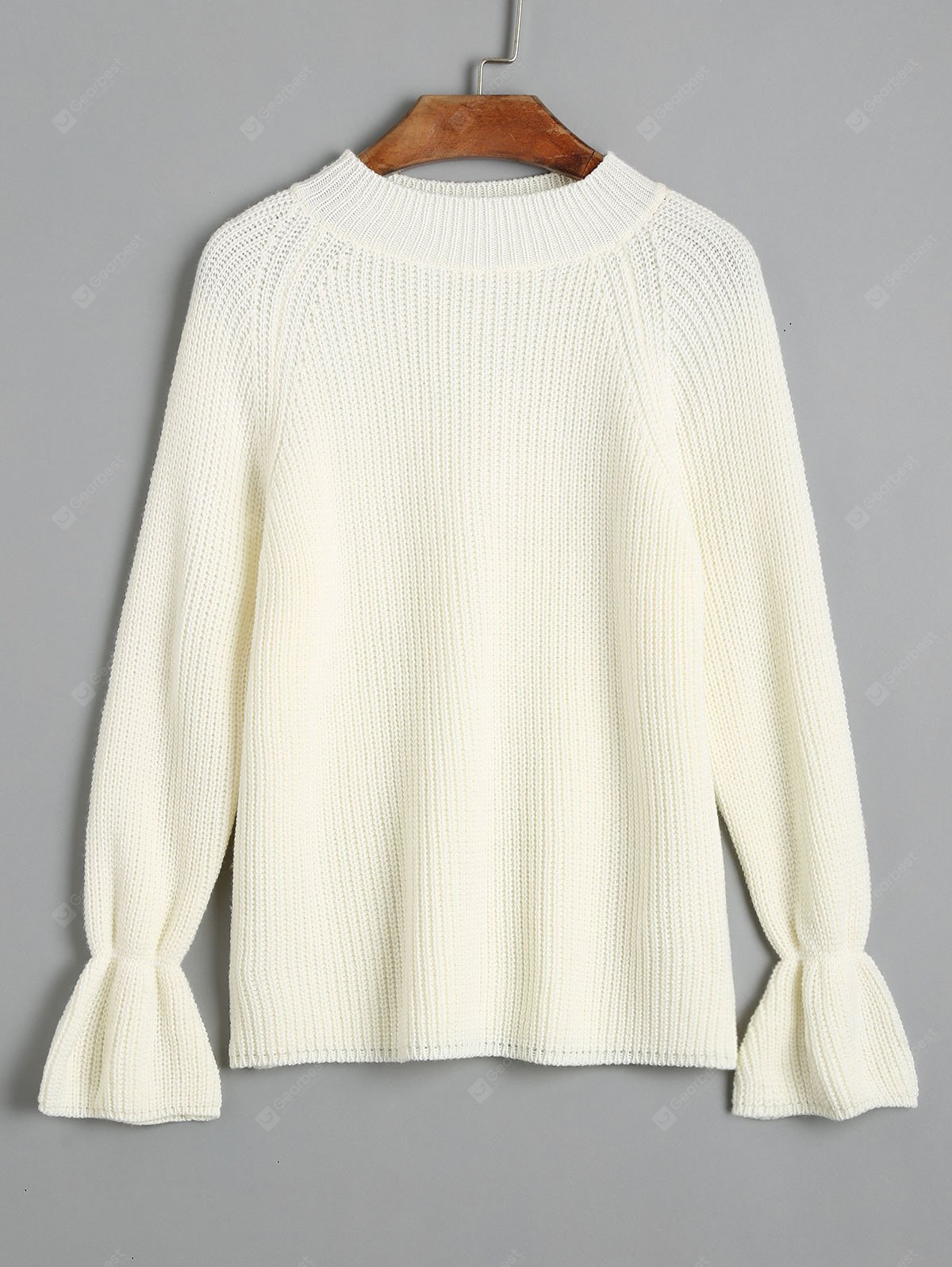 Mock Neck Pullover Raglan Sleeve Sweater
