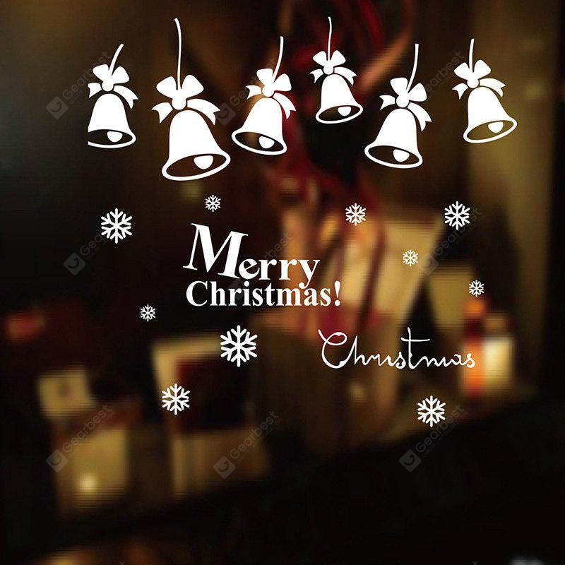 Christmas Bells Pattern Decorative Window Wall Sticker