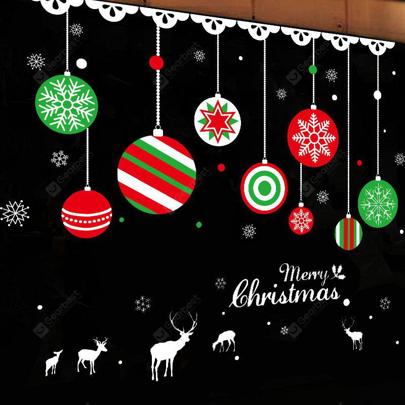 Christmas Balls Pattern Window Wall Art Sticker