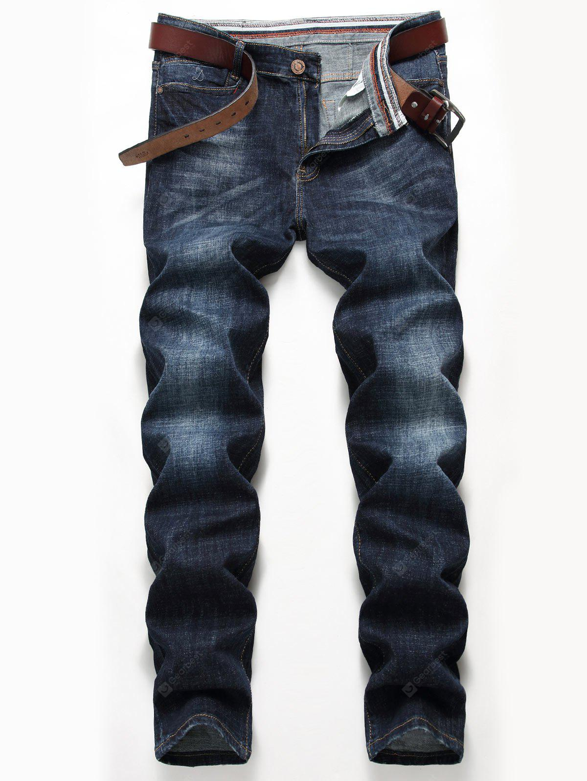 Zip Fly Straight Leg Classic Jeans