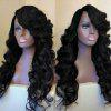 Side Parting Long Fluffy Loose Wave Synthetic Wig - BLACK