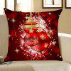 Christmas Snowflakes Balls Printed Throw Pillow Case - DEEP RED