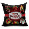 Christmas Elements Decorative Throw Pillowcase - NEGRO