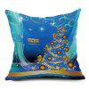 Christmas Graphic Decorative Throw Pillow Case - BLUE