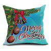Christmas Ball Bell Print Decorative Pillowcase - COLORMIX