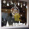 Christmas Elements Pattern Window Wall Art Decal - BLANCO