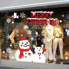 Christmas Snowman Glass Window Wall Art Sticker - COLORMIX
