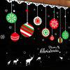 Christmas Balls Pattern Window Wall Art Sticker - COLORMIX