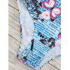 Back Tied Graphic One Piece Swimwear - COLORMIX