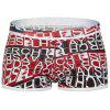 Elastic Waist U Convex Pouch Graphic Print Boxer Brief - COLORMIX