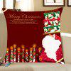 Santa Claus Cake And Candles Print Throw Pillow Case - RED