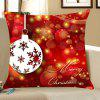 Christmas Baubles Pattern Square Pillow Case - RED