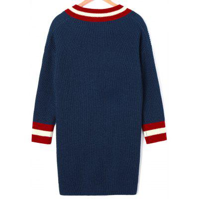 Mini Cable Knit Cricket Sweater DressSweater Dresses<br>Mini Cable Knit Cricket Sweater Dress<br><br>Dresses Length: Mini<br>Material: Acrylic<br>Neckline: V-Neck<br>Package Contents: 1 x Dress<br>Pattern Type: Striped<br>Season: Fall, Spring<br>Sleeve Length: Long Sleeves<br>Weight: 0.5200kg<br>With Belt: No
