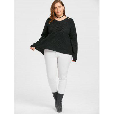 V Neck Plus Size Long SweaterPlus Size<br>V Neck Plus Size Long Sweater<br><br>Collar: V-Neck<br>Material: Polyester, Spandex<br>Package Contents: 1 x Sweater<br>Pattern Type: Solid<br>Season: Fall, Winter<br>Sleeve Length: Full<br>Style: Fashion<br>Type: Pullovers<br>Weight: 0.6500kg