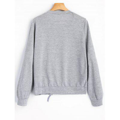 Cut Out Self Tie Bowknot SweatshirtSweatshirts &amp; Hoodies<br>Cut Out Self Tie Bowknot Sweatshirt<br><br>Clothing Style: Sweatshirt<br>Material: Polyester<br>Package Contents: 1 x Sweatshirt<br>Pattern Style: Solid<br>Shirt Length: Regular<br>Sleeve Length: Full<br>Weight: 0.2700kg