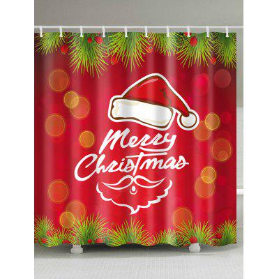 Christmas Hat Print Waterproof Shower Curtain