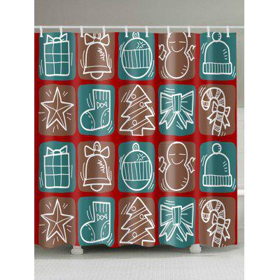 Christmas Series Print Waterproof Shower Curtain