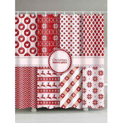 Christmas Pathwork Print Waterproof Shower Curtain