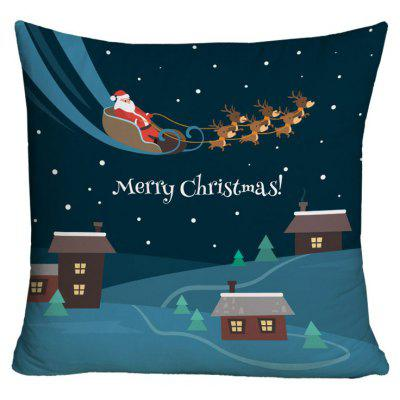 Christmas Sled Printed Decorative Pillow Case