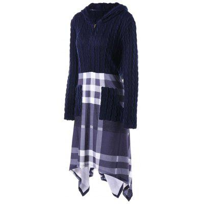 Plus Size Cable Knit Hooded Handkerchief DressPlus Size Dresses<br>Plus Size Cable Knit Hooded Handkerchief Dress<br><br>Dresses Length: Knee-Length<br>Embellishment: Pockets<br>Material: Polyester<br>Neckline: Hooded<br>Package Contents: 1 x Dress<br>Pattern Type: Plaid<br>Season: Fall, Spring<br>Silhouette: A-Line<br>Sleeve Length: Long Sleeves<br>Style: Casual<br>Weight: 0.7100kg<br>With Belt: No