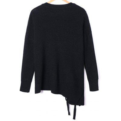 Plus Size Lace Up Asymmetric SweaterPlus Size<br>Plus Size Lace Up Asymmetric Sweater<br><br>Collar: V-Neck<br>Material: Polyester<br>Package Contents: 1 x Sweater<br>Pattern Type: Solid<br>Season: Spring, Fall<br>Sleeve Length: Full<br>Style: Casual<br>Type: Pullovers<br>Weight: 0.5000kg